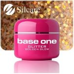 glitter 4 Golden Glow base one żel kolorowy gel kolor SILCARE 5 g